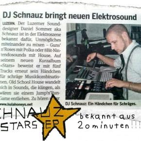 SCHNAUZ: Stars EP @ 20minuten Newspaper