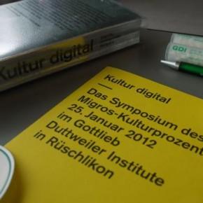 """KULTUR DIGITAL - Workshop: """"Kulturproduktionen mit dem iPad und iPhone"""" vom 25. Januar 2012 im GDI Gottlieb Duttweiler Institute"""